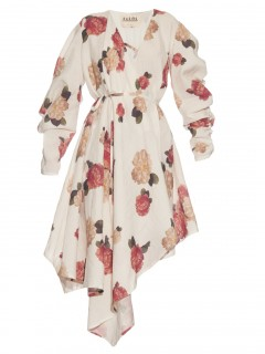 www.matchesfashion.com:intl:products:A-W-A-K-E--Floral-print-wrap-front-dress--1049281